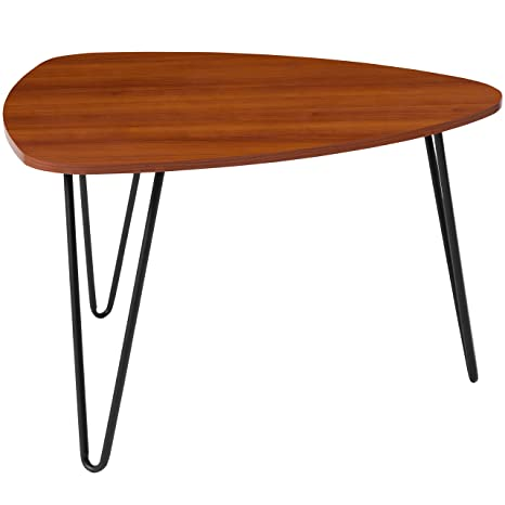 Genial Flash Furniture Charlestown Collection Cherry Wood Grain Finish Coffee Table  With Black Metal Legs