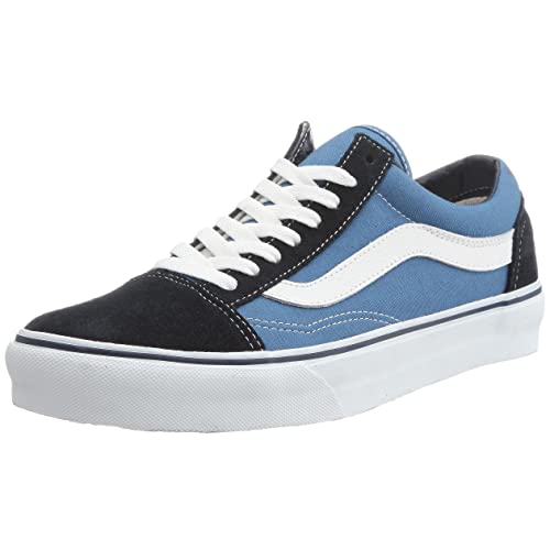 Vans U Old SKOOL Navy - Zapatillas de Cuero Unisex, Color Azul, Talla 41: Amazon.es: Zapatos y complementos