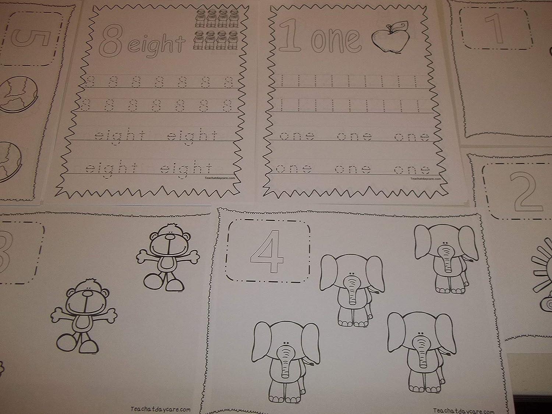 263 Bulk Printed Preschool Numbers Worksheets.
