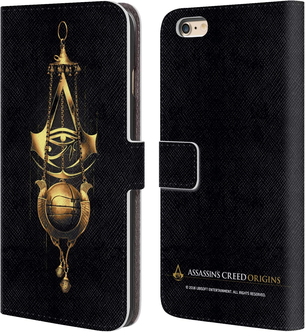 Head Case Designs Officially Licensed Assassin's Creed Piece of Eden Origins Crests Leather Book Wallet Case Cover Compatible with Apple iPhone 6 Plus/iPhone 6s Plus