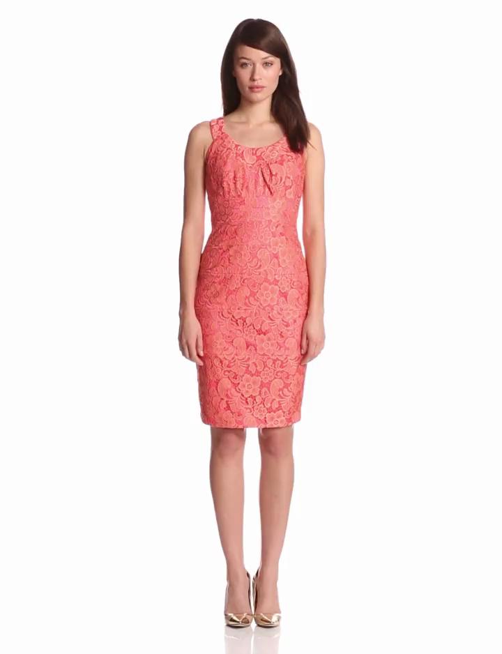 Jax Womens Sleeveless Lace Dress