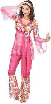 Vegaoo - Disfraz de Hippie para Mujer Manga Transparente - XL ...