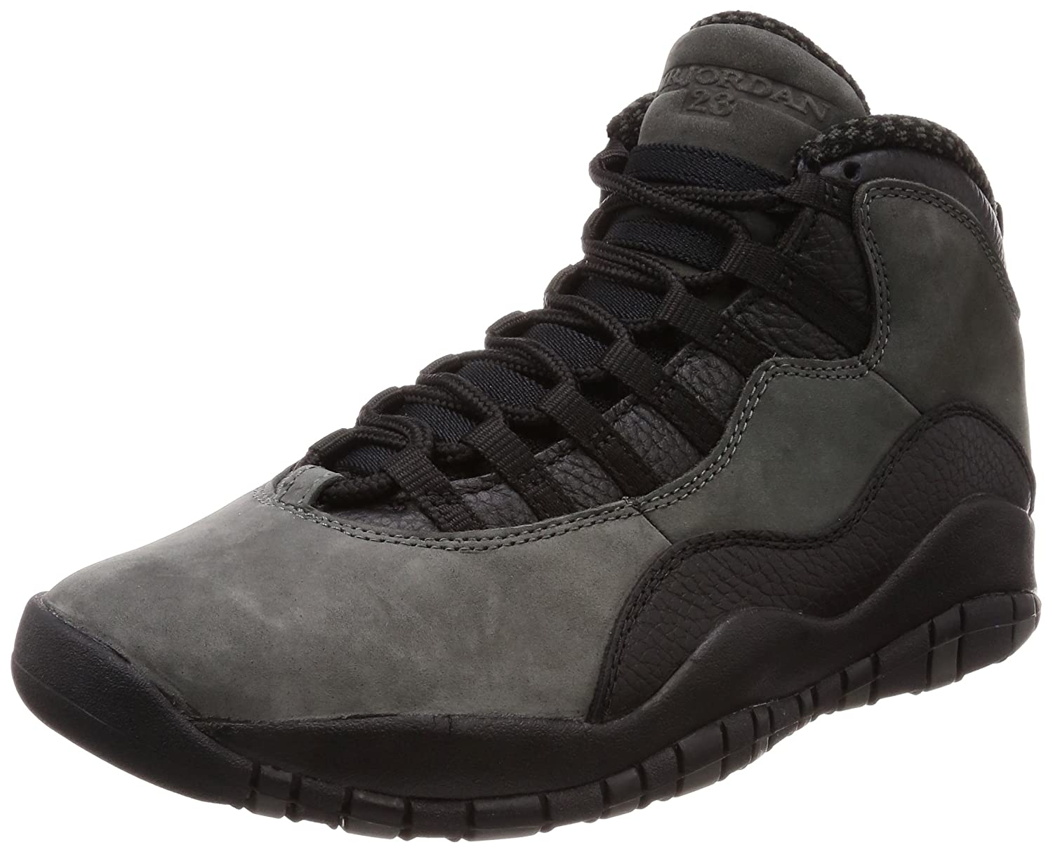 Nike Herren Air Jordan 10 Retro Dunkelgrau Leder/Synthetik/Textil Sneaker  44.5 EU|Dunkelgrau (Dark Shadow/True Red/Black)