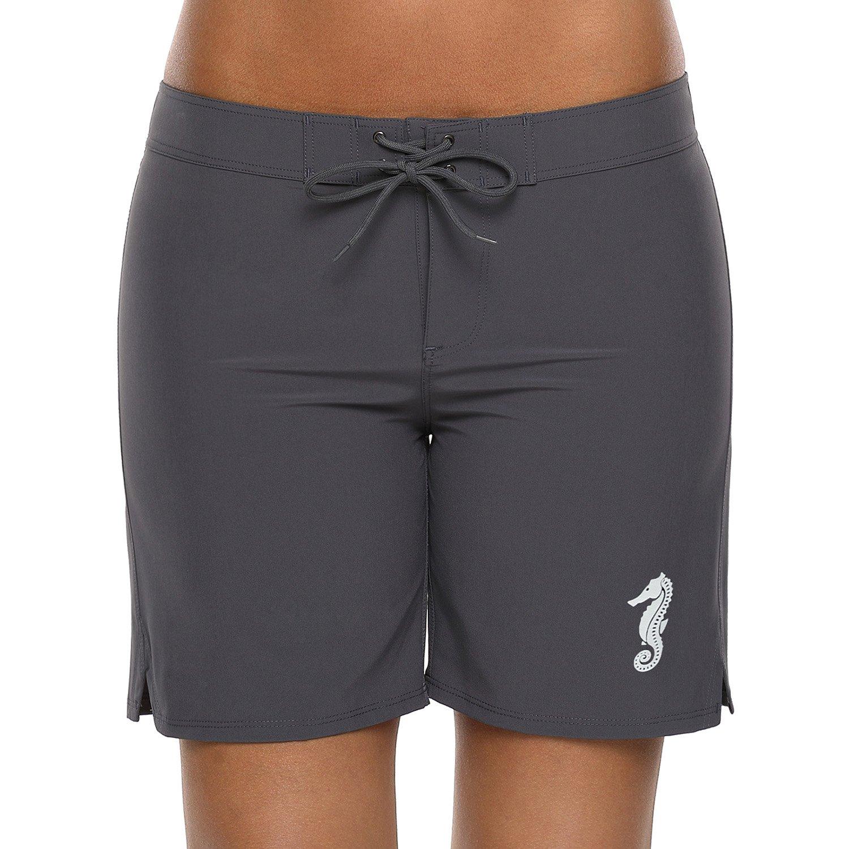 CharmLeaks Womens Sport Swimming Short Surf Jammers Boyleg Bottom Boardshorts Swimwear