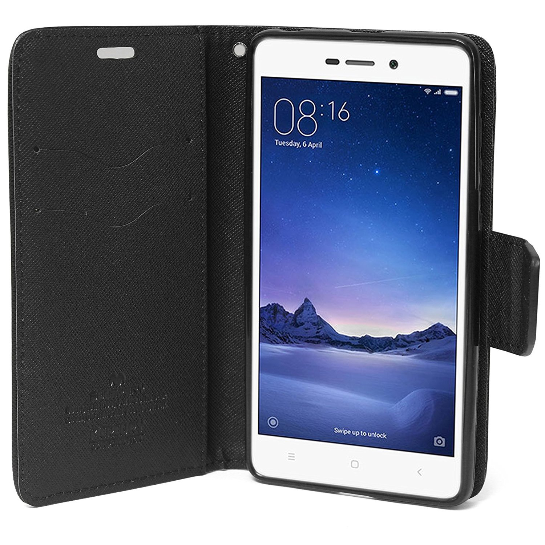 Mercury Goospery Fancy Diary Card Wallet Flip Case With Xiaomi Mi 6 Canvas Black Electronics