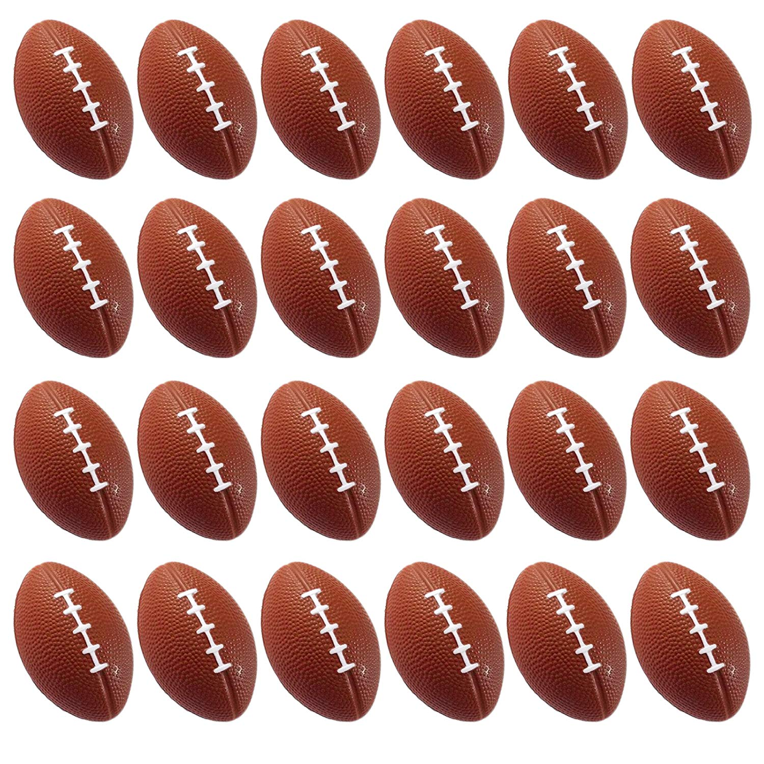 Basketballs Baseball Anxiety Relief 12 Pack 24 Pack Baseball Soccer Ball Relaxation Football Basketball Squeeze Foam for Stress Relaxation. Mini Sports Balls for Kids Party Favor Toy Wall2Wall Imports 24 Pack Squeeze Foam for Stress