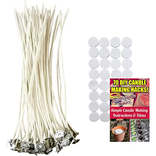 beeswax palm Round Wick paraffin soy DIY candle making with leftover wax