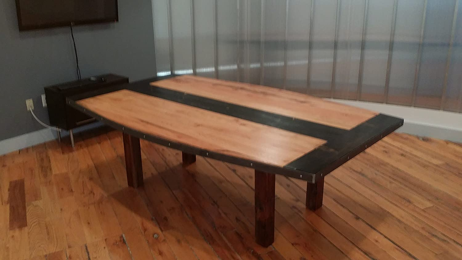 Reclaimed wood conference tables - Amazon Com The Edison Signature Our Handmade Work Conference Or Dining Table Made From Reclaimed Wood Handmade