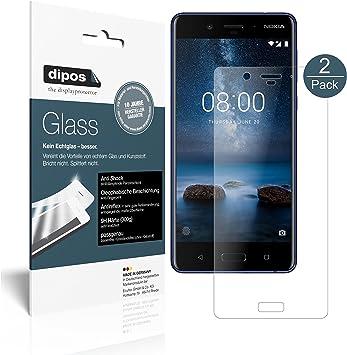 dipos I 2X Protector de Pantalla Mate Compatible con Nokia 8 ...