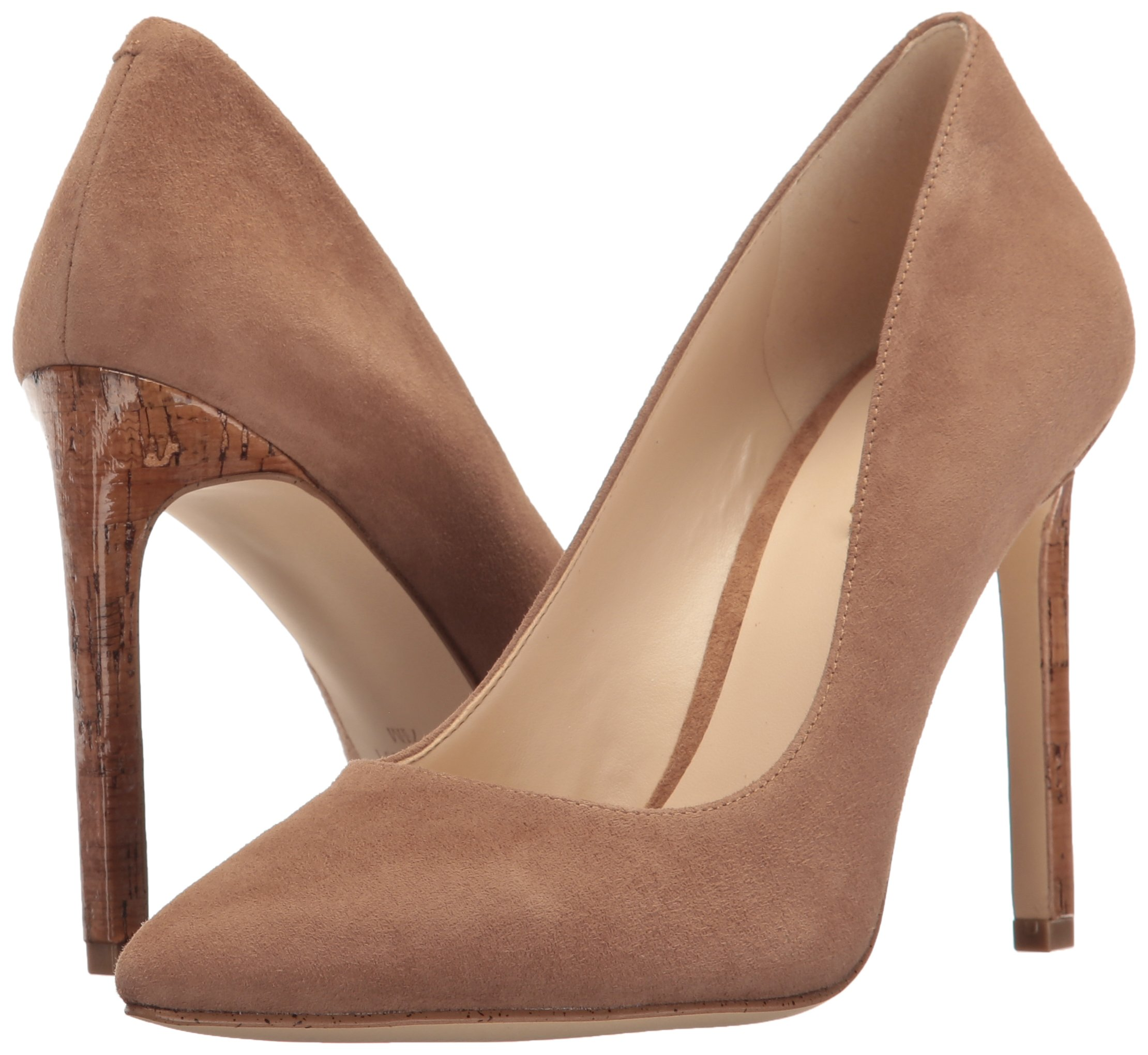 Nine West Women's Tatiana Suede Dress Pump, Dark Natural, 8 M US by Nine West (Image #6)