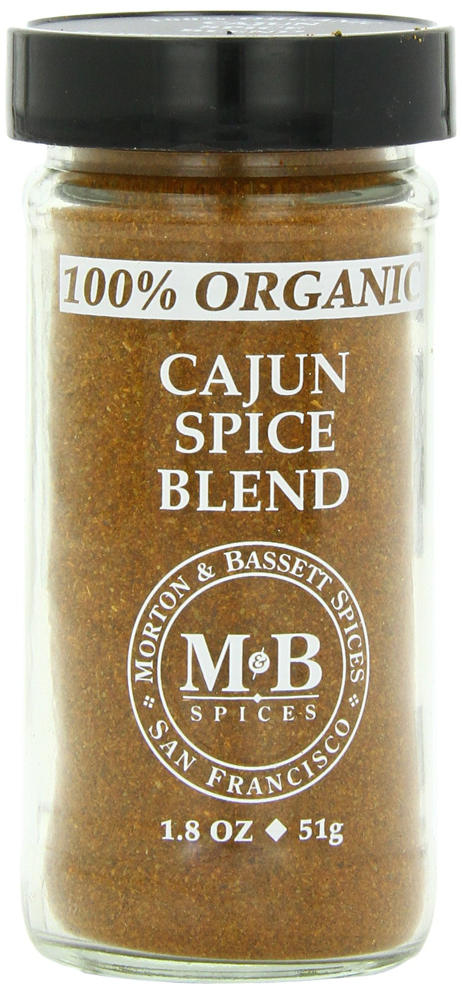 Morton & Basset Spices, Cajun Spice Blend, 1.8 Ounce (Pack of 3)