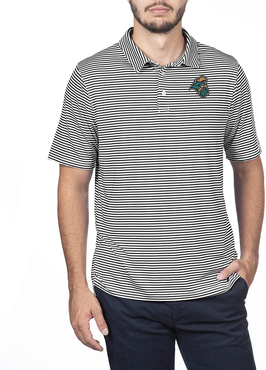 Top of the World NCAA Mens Team Color Stretch Bunker Polo