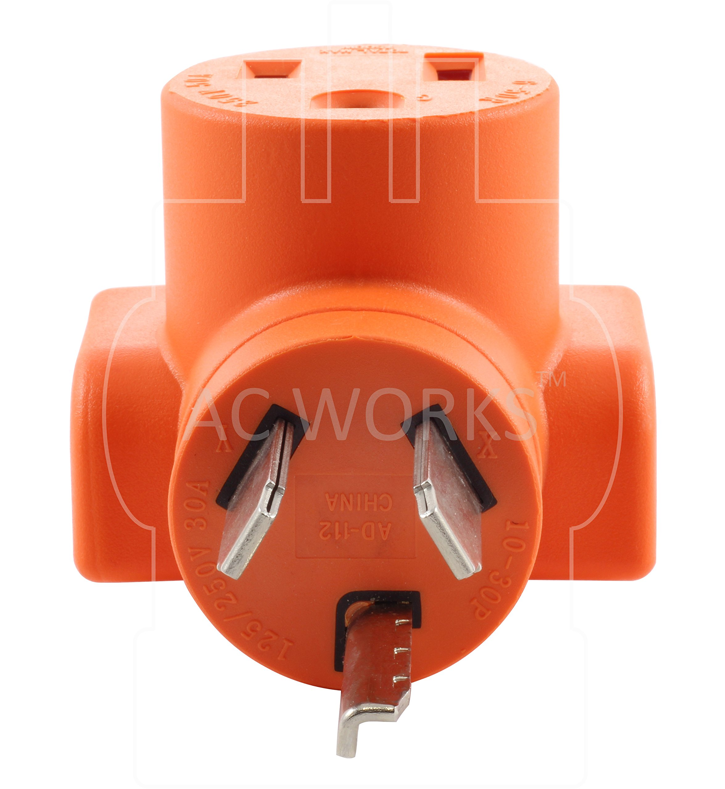 AC WORKS [WD1030650] NEMA 10-30 3-Prong Dryer Plug to 6-50 Welder Adapter by AC WORKS (Image #3)