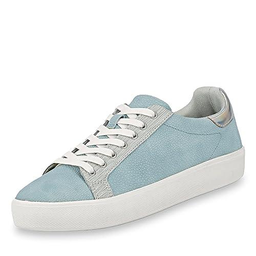 Tamaris 23724 20 Sky Blue Casual Lace Up Shoe: Amazon.co.uk