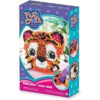 "Orb Factory Tiger Pillow Arts & Crafts, Orange/Black/White/Pink, 7.5"" x 3"" x 12"""