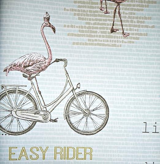 Papel Pintado eijf dedos Script 347517 Flamingo en bicicleta Texto ...