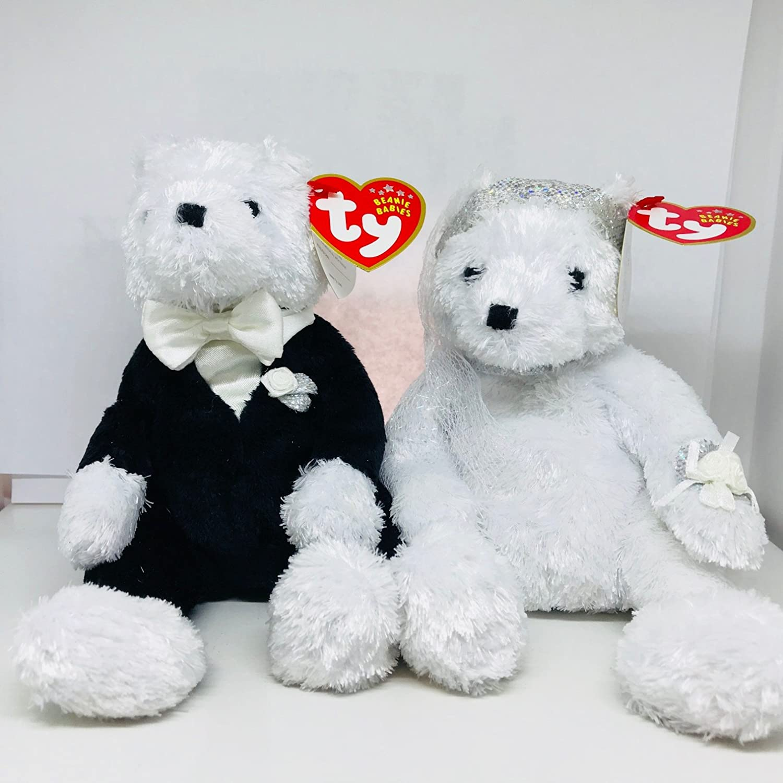 3ff81e32f7a Amazon.com  Ty Bride   Groom Beanie Babies Plush  Toys   Games