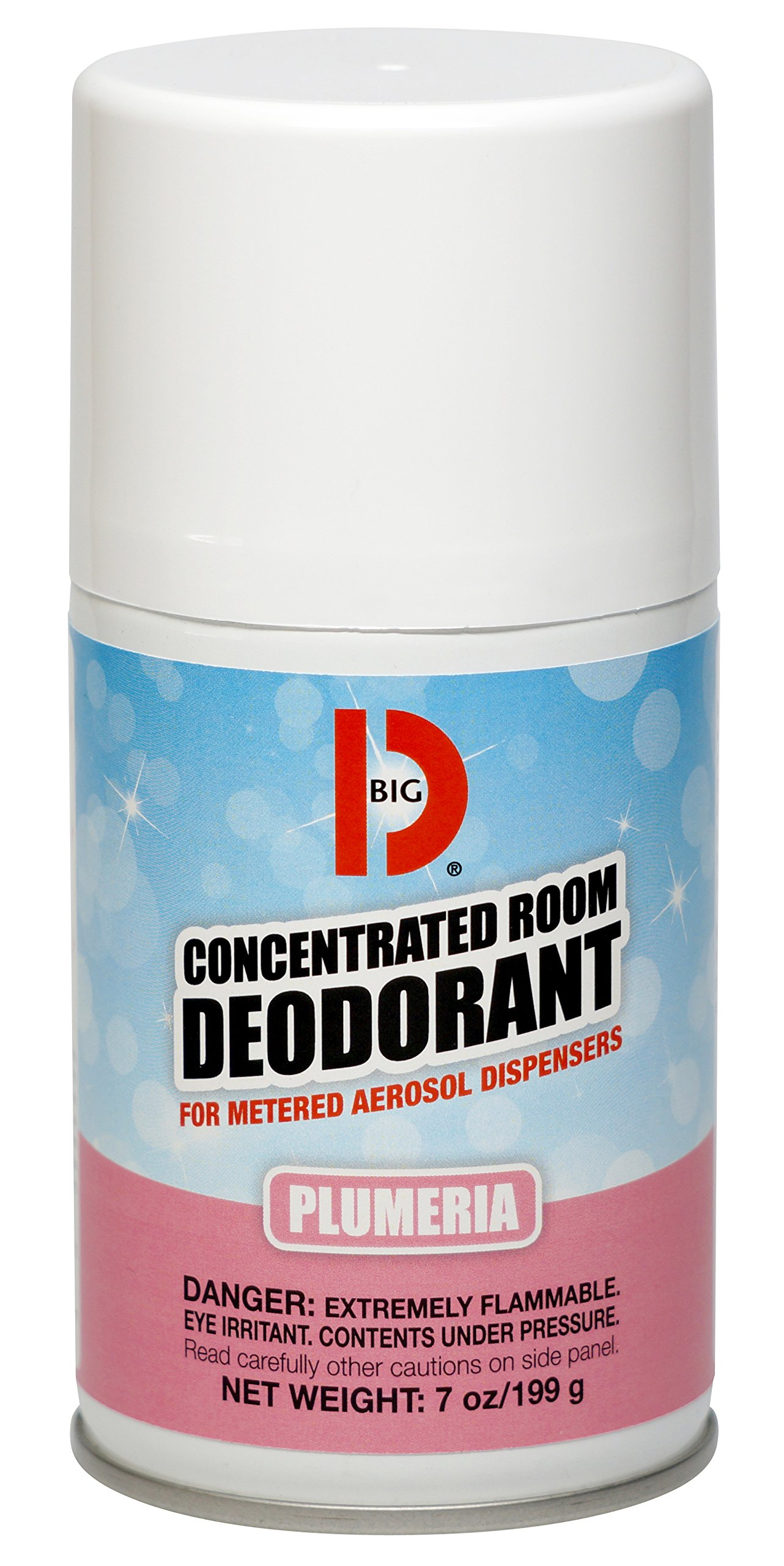 Big D 475 Concentrated Room Deodorant for Metered Aerosol Dispensers, Plumeria Fragrance, 7 oz (Pack of 12) - Air freshener ideal for restrooms, offices, schools, restaurants, hotels, stores by Big D