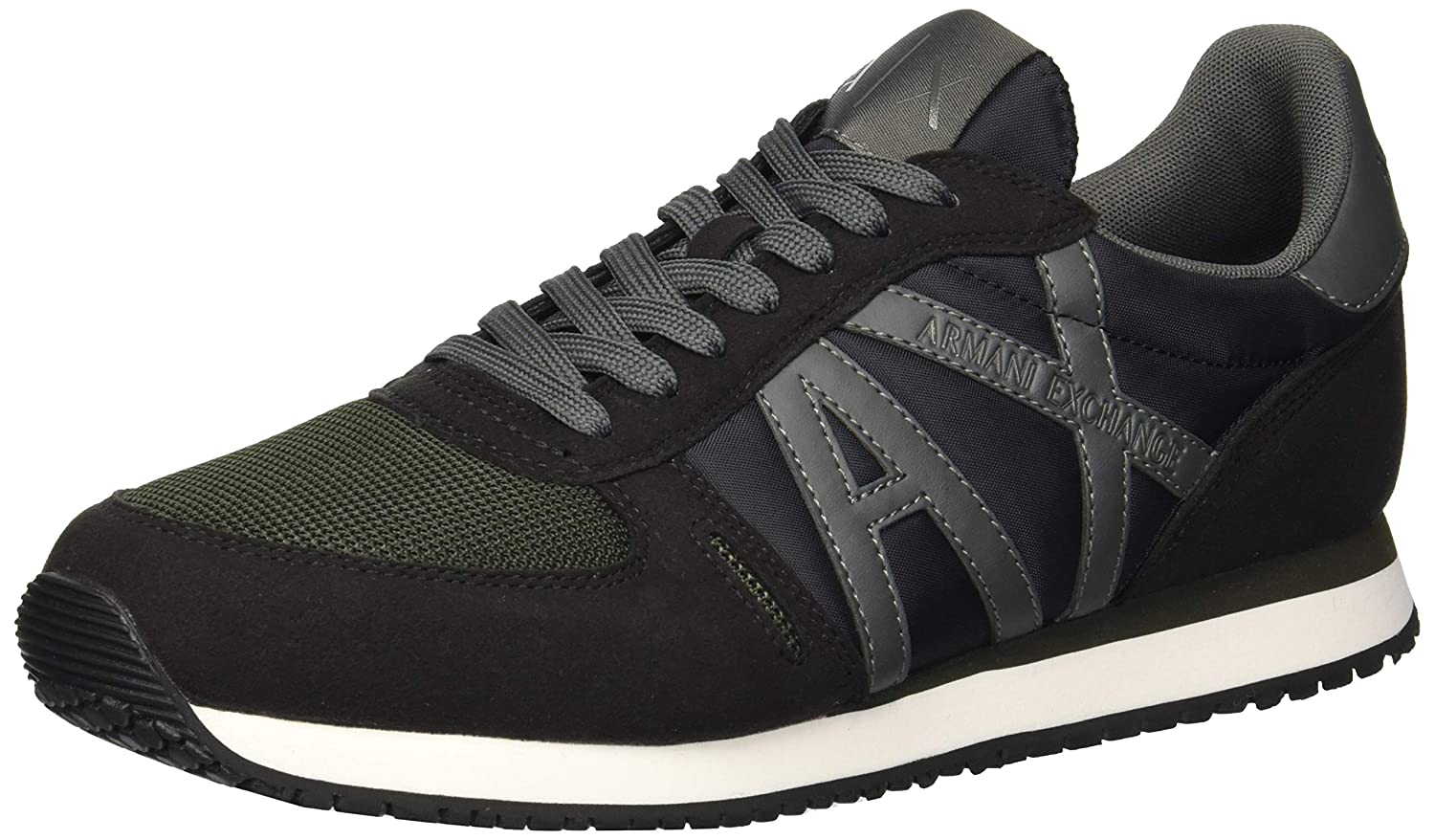 A|X Armani Exchange Men's Retro Running Sneaker