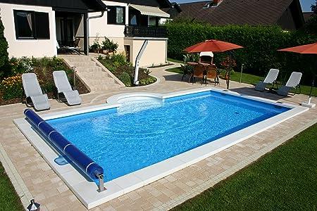 Borde de la Piscina piedras blanco para piscinas rectángulo 800 x 400 cm: Amazon.es: Jardín