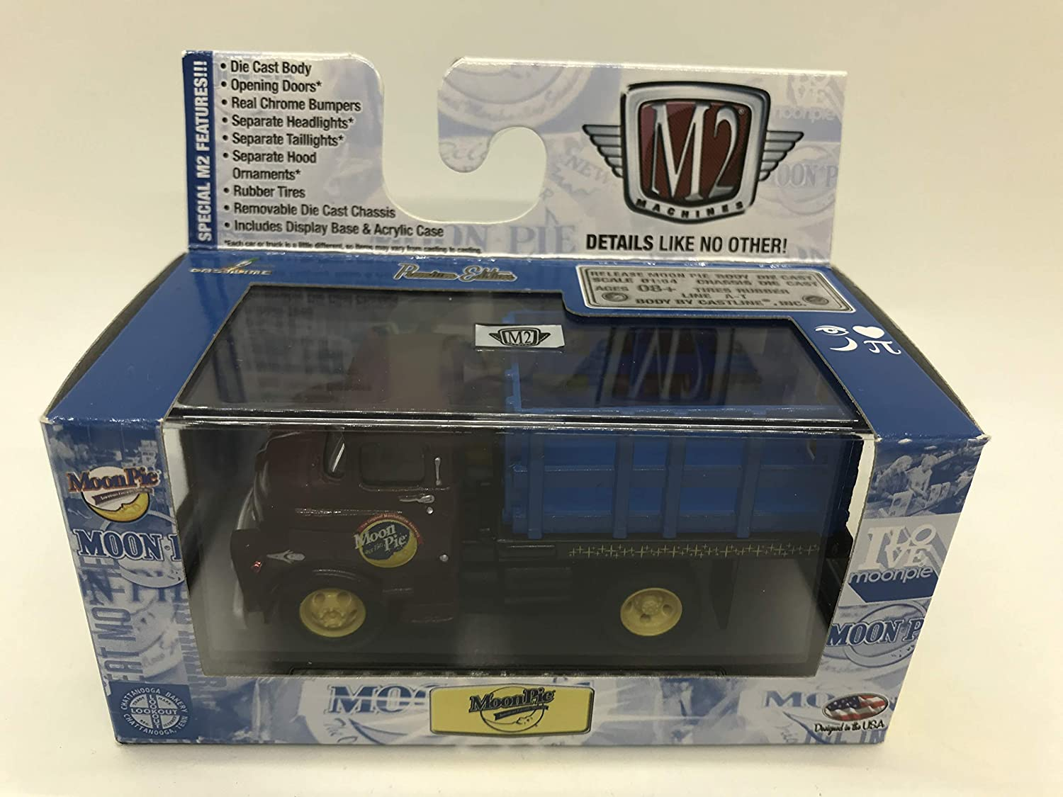 M2 Machines by M2 Collectible MoonPie 1957 Dodge 700 COE MN01 13-05 Brown//Blue Details Like NO Other!