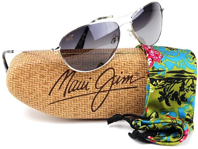 Maui Jim gs245 – 17 bebé playa polarizadas lente Gafas de sol Marco de titanio plateado