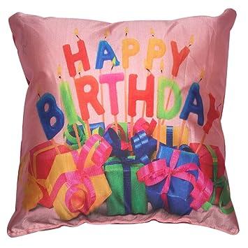 Twisha Happy Birthday Presents Pillow 12 X 12 X 4 Inch