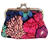 Vera Bradley Kiss Coin Purse in Floral Fiesta