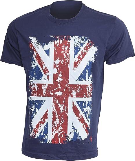 Bandera Reino Unido- Camiseta de Manga Corta para Hombre: Amazon ...