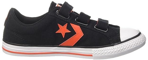Converse Unisex-Kinder Star Player EV 3V OX Black/Gym Red/White Fitnessschuhe, Schwarz (Black/Gym Red/White 001), 31 EU
