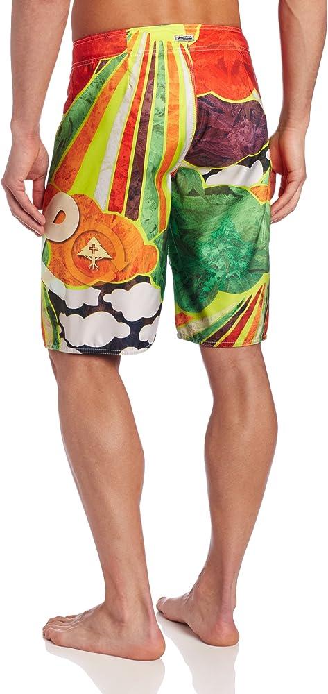 Sunshine Warning Mens Beach Shorts Elastic Waist Pockets Lightweight Swimming Board Short Quick Dry Short Trunks