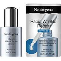 Neutrogena Rapid Wrinkle Repair Anti-Wrinkle Retinol Face Serum Oil, Lightweight Anti-Wrinkle Serum To Remove Dark Spots…