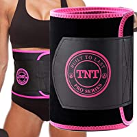 TNT Pro Series Waist Trimmer for Women and Men - Waist Trainer for Weight Loss Sweat Belt - Belly Fat Slimming Stomach Band - Lumbar Support Neoprene Wrap…