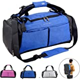 Sports Gym Bag with Wet Pocket & Shoes Compartment Travel Duffel Bag for Men and Women Outdoor Activities Hiking…