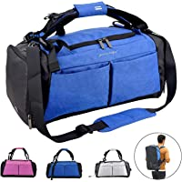Sports Gym Bag with Wet Pocket & Shoes Compartment Travel Duffel Bag for Men and Women Outdoor Activities Hiking, Camping, Yoga