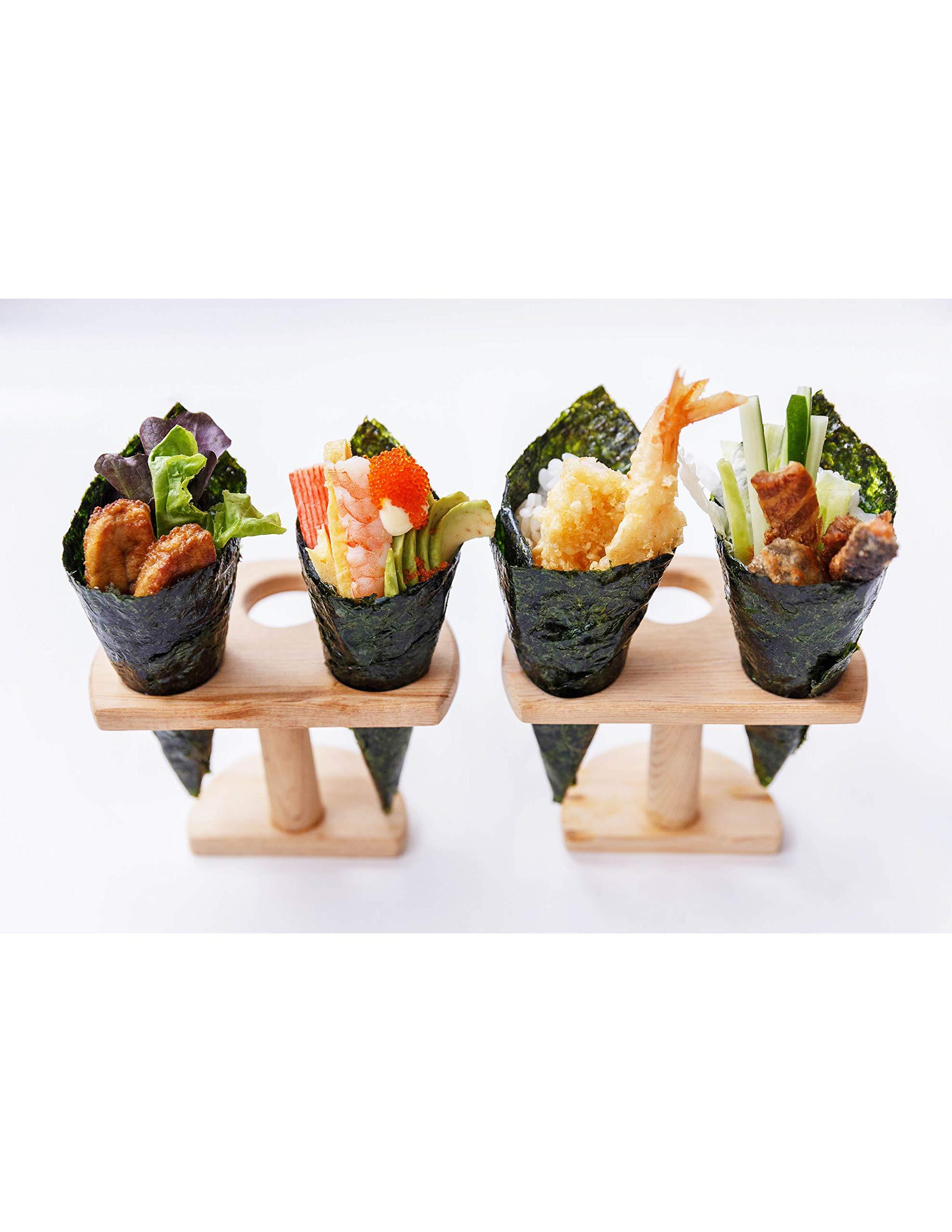 YM Korean Roasted Seaweed Premium Sushi Nori   Premium Gold Grade   Twice Roasted   100% Natural Korean Seaweed   100 Half Sheets (1 Pack) by YM (Image #4)