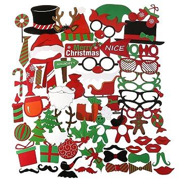 Weihnachtsbilder Witzig.Pbpbox 62 St Photobooth Foto Requisiten Für Stimmungsvolle Witzige Bilder Zum Party Weihnachten Und Neujahr