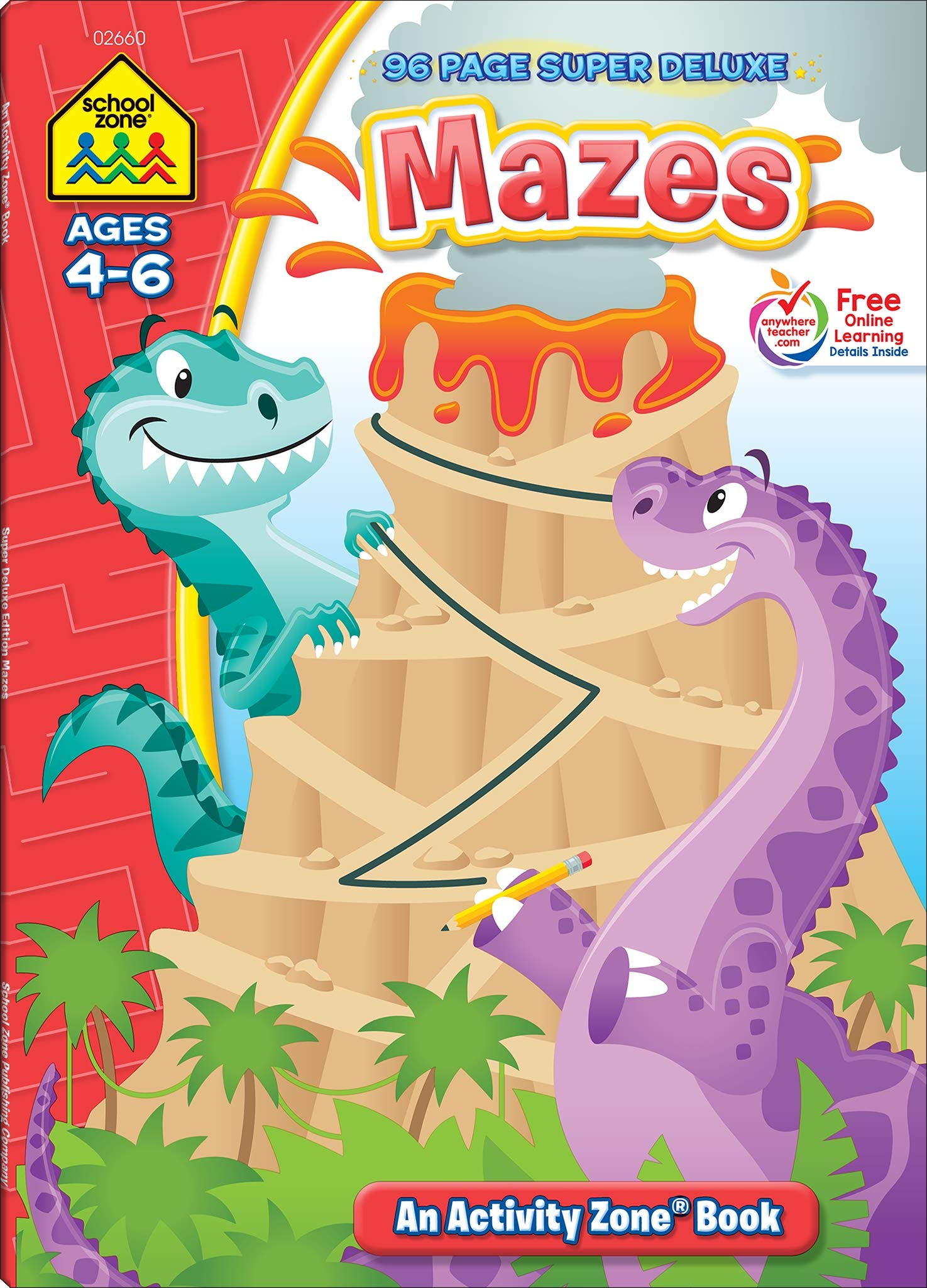 Amazon.com: School Zone - Mazes Workbook - 96 Pages, Ages 4 ...
