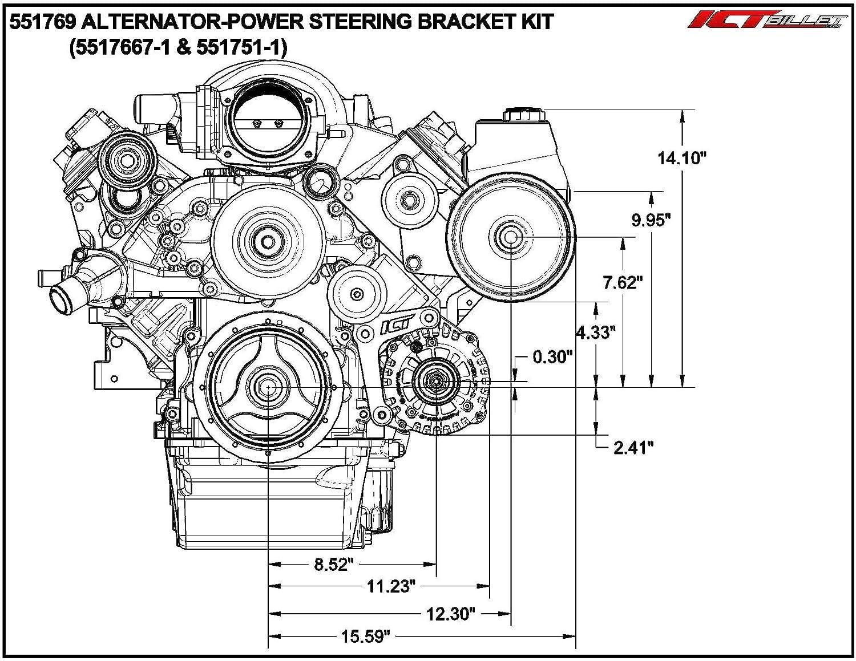 Ls Corvette Low Mount Alternator Power Steering Pump Alternators Parts Diagram Mounting Brackets Lsx Ls1 Ls3 Ls2 551769 1 Automotive