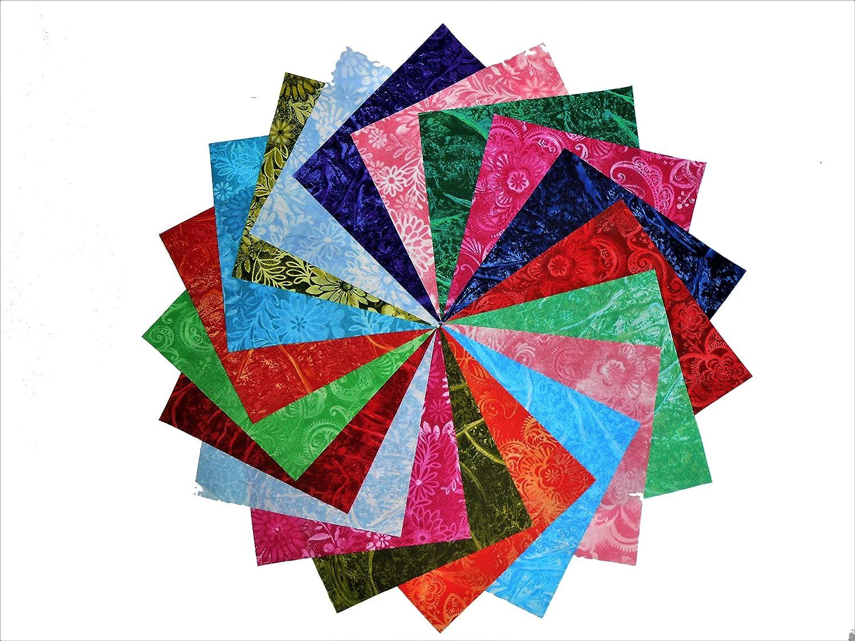 80 5 Batik Tonal Quilting Fabric Charm Pack