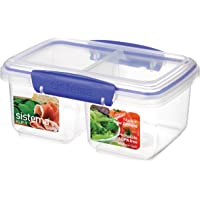 Sistema Klip It Split Klip It Food Storage Container, Clear