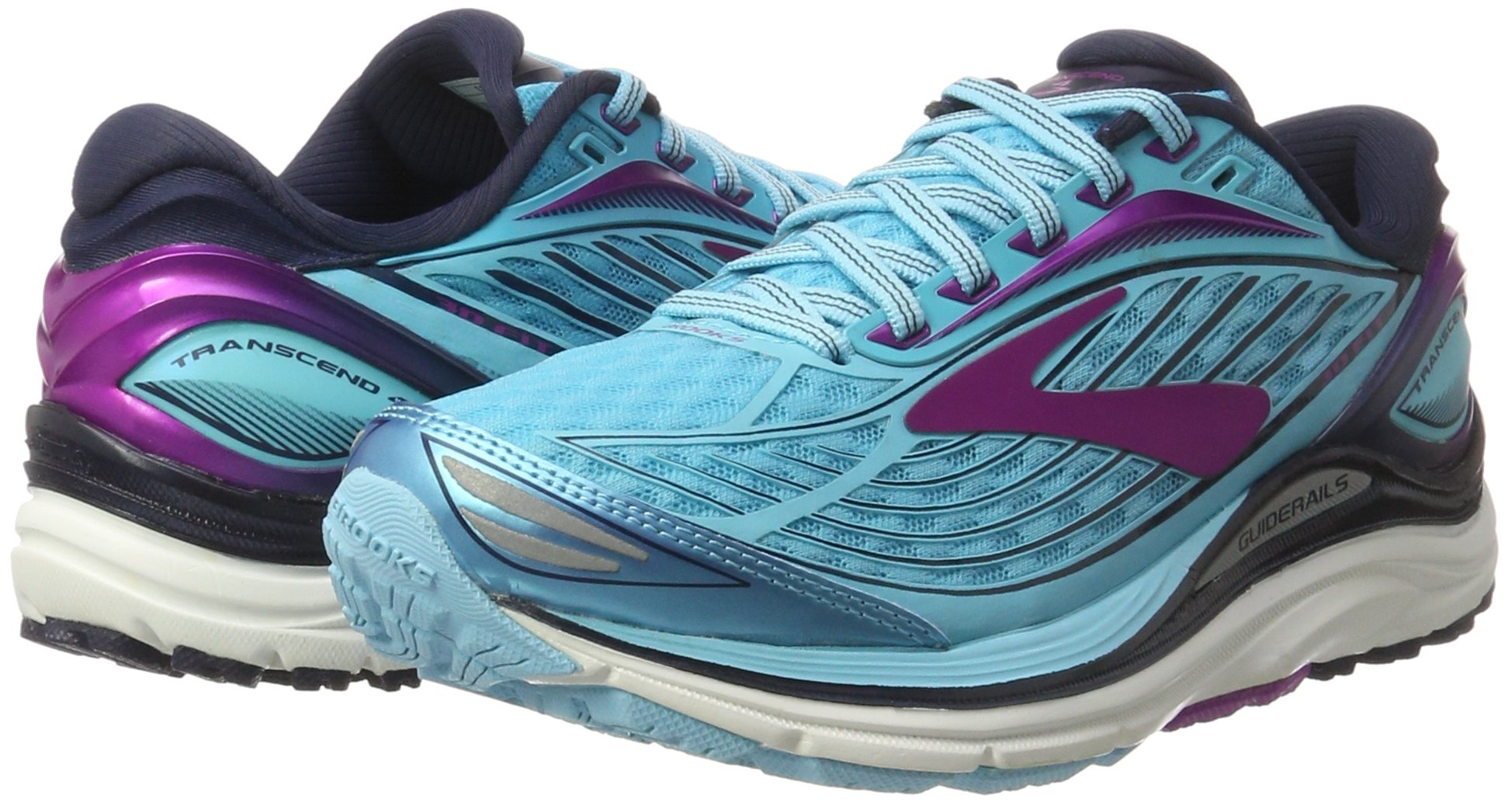 Brooks Women's Transcend 4 Bluefish/Peacoat/Purple Cactus Flower 6.5 B US by Brooks (Image #5)