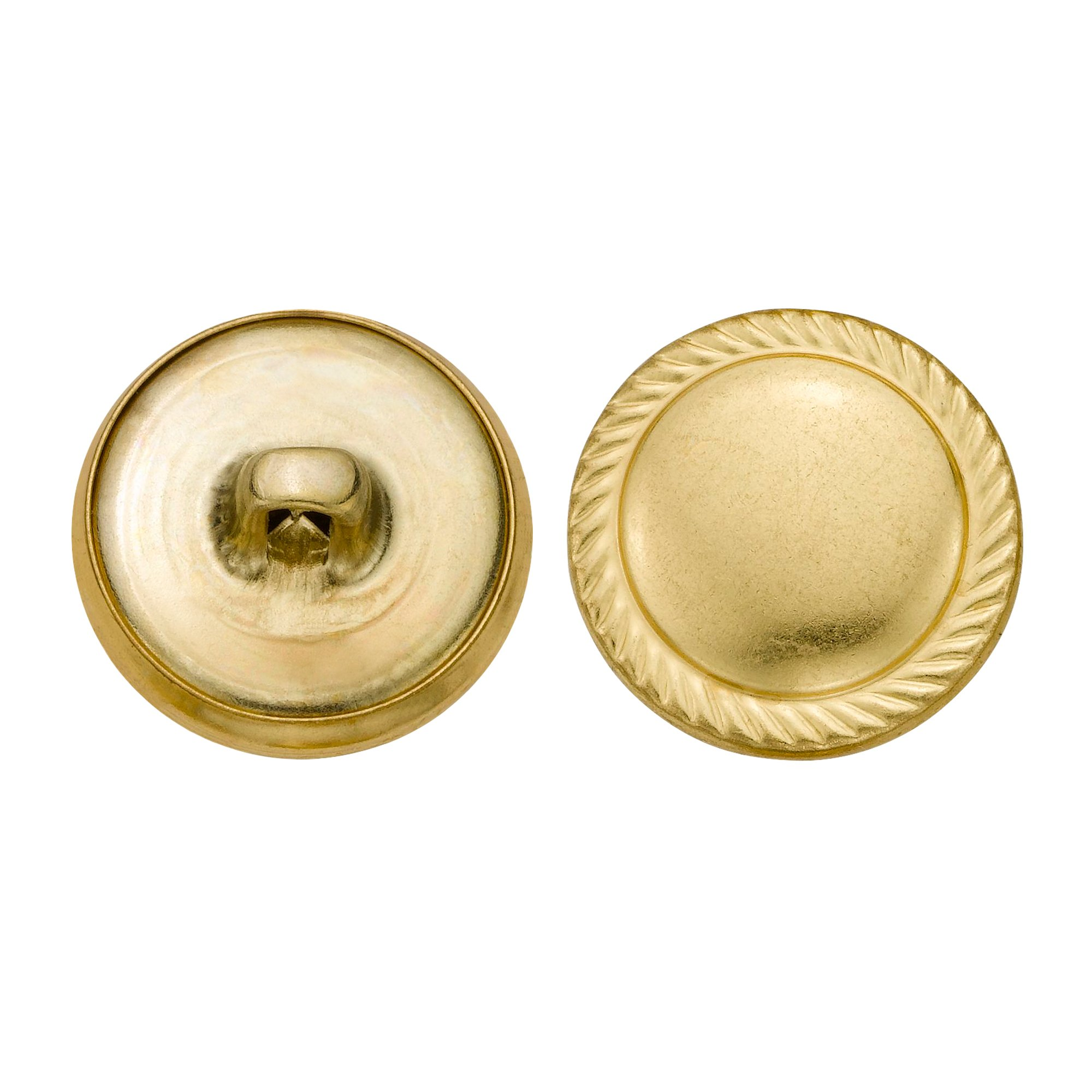 C&C Metal Products 5351 Rope Edge Dome Metal Button, Size 30 Ligne, Gold, 36-Pack