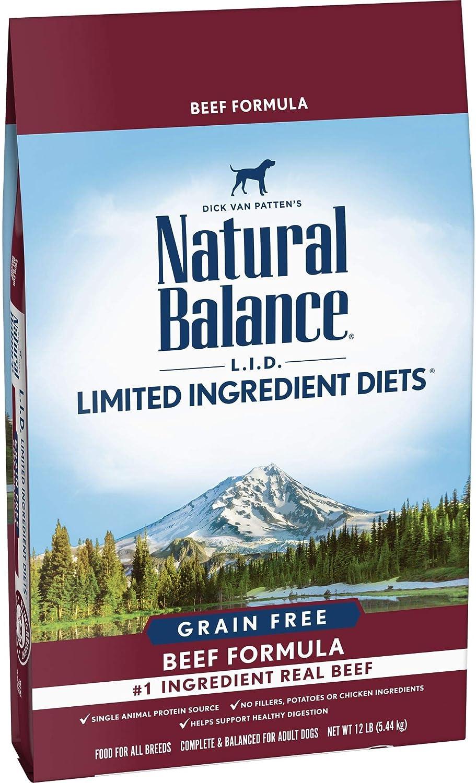 Natural Balance L.I.D. Limited Ingredient Diets Dry Dog Food, Beef Formula, 12 Pounds, Grain Free