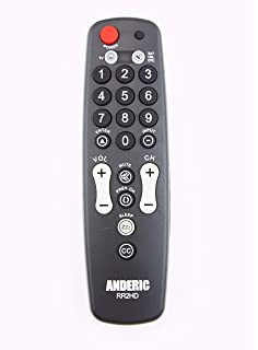 Amazon colossal universal remote control electronics simple big button comcast xfinity directv cable box sat box tv sciox Gallery