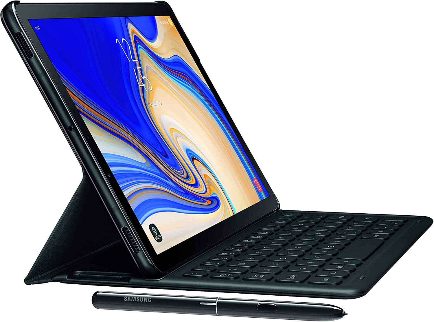 Samsung Electronics Ej Ft830ubeguj Galaxy Tab S4 Book Cover Keyboard Black Computers Accessories