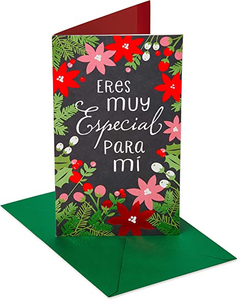Amazon.com: American Greetings Feliz Navidad - Tarjeta de ...