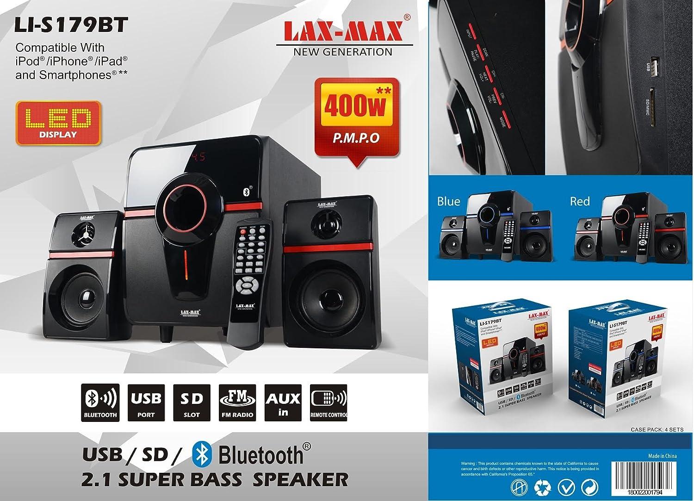 Jaras Lax Max Multimedia 21 Bluetooth Loud Hi Fi Home Audio Pc Speaker System Speakers Powerful Bass Digital Display Fm Radio Supports Usb Sd Aux Tv
