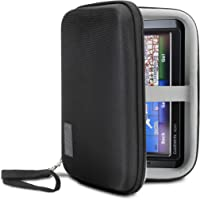 USA Gear Hard Shell Electronic Organizer Travel Case 7.5 Inch with Weather Resistant Exterior and Large Mesh Accessory Pocket - Compatible with Garmin GPS, Chargers, Hard Drives and More Electronics