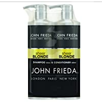 John Frieda Duo Pack Sheer Blonde Go Blonder Lightening Shampoo and Conditioner Set for Blonde Hair, 2 x 500 ml
